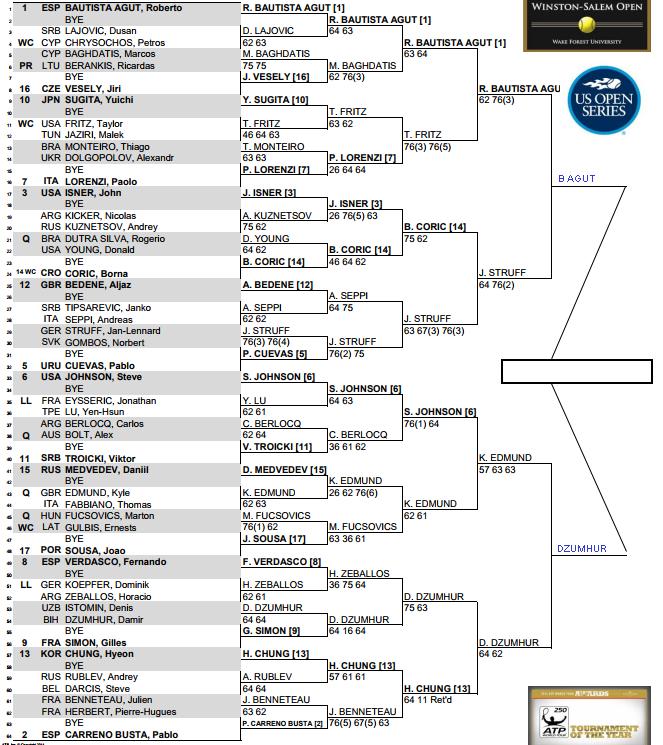 ATP Winston Salem Open, Semi Final predictions 3