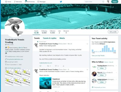 See tweets about Betfair Tennis Trading.