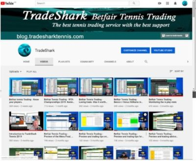 YouTube Videos about Betfair Tennis Trading. Proven low risk strategies.
