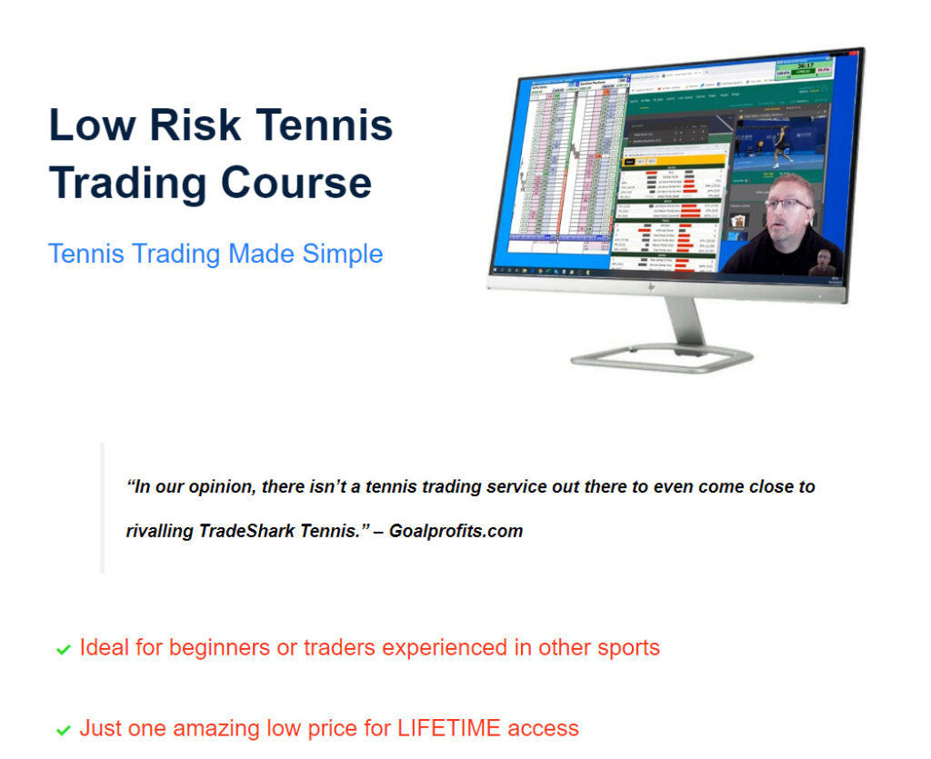 Screenshot of tradesharktennis.com