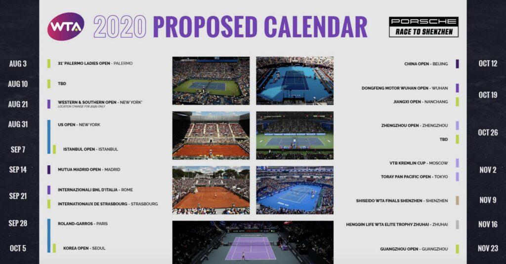 WTA calendar