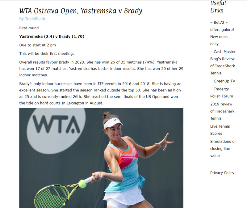 TradeShark Betfair Tennis Trading 4